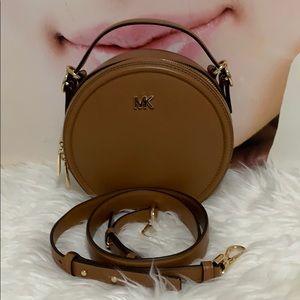 Michael Kors round crossbody sling  bag brown